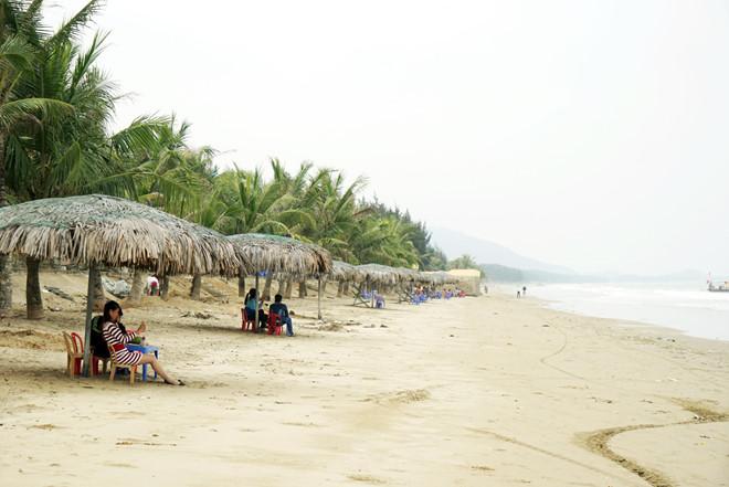Rặng dừa nghiêng mình chắn gió, sóng biển hiền hòa và không gian nên thơ, tĩnh lặng sẽ mang đến cho du khách cảm giác thư thái.